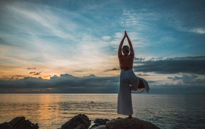 Woman Over 50 Doing Yoga Pose